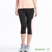 bossini女裝-速乾撞色運動褲18黑