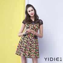 【YIDIE衣蝶】立體彩色幾何棉質短洋裝