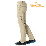 【hilltop山頂鳥】男款吸濕排汗抗UV彈性長褲S07MA7卡其