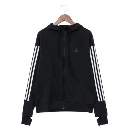 Adidas 運動連帽外套 女   黑 PERF FZ HOODY - BK7675
