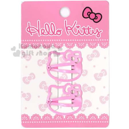 〔小禮堂〕Hello Kitty 兒童造型髮夾《2入.粉.大臉型》甜美可愛
