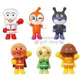 〔小禮堂〕麵包超人 公仔玩具組《6個角色.盒裝》適合3歲以上兒童