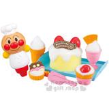 〔小禮堂〕麵包超人 甜點師傅洗澡玩具《草莓蛋糕.盒裝》適合3歲以上孩童