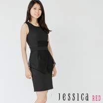 JESSICA RED - 高雅氣質網紗造型無袖洋裝(黑)