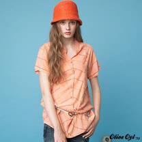 【Olive Oyl奧莉薇】前長後短打褶格紋襯衫(共二色)