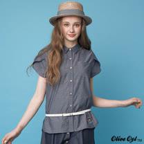 【Olive Oyl奧莉薇】花苞袖織紋襯衫(共二色)