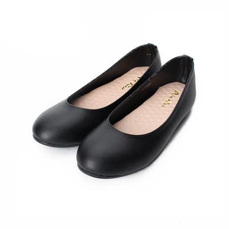 (女) Rin Rin 素面套式平底鞋 黑 女鞋 鞋全家福