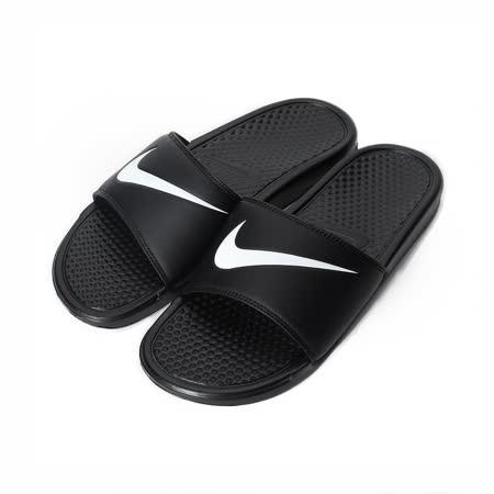 (男) NIKE BENASSI SWOOSH 輕量套式拖鞋 黑 312618-011 男鞋 鞋全家福