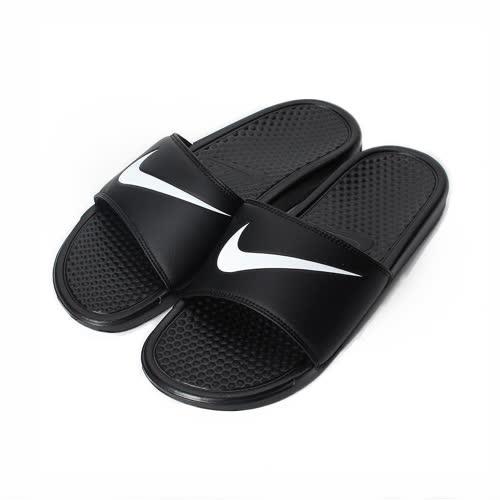 ^(男^) NIKE BENASSI SWOOSH 輕量套式拖鞋 黑 312618~011