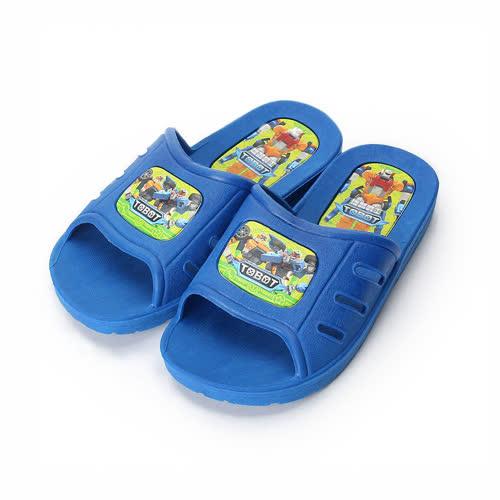 中小童  機器戰士 套式拖鞋 藍 童鞋 鞋全家福