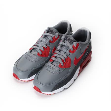 (大童) NIKE Air Max 90 LTR (GS) 綁帶氣墊復古慢跑鞋 灰黑紅 833412-007 童鞋 鞋全家福