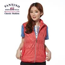 【FANTINO】女裝 夏日抓皺休閒背心(紅) 376202
