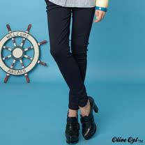 【Olive Oyl奧莉薇】彈力花苞繡圖口袋長褲(共二色)