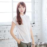 【Tiara Tiara】激安 花肩鏤空排釦襯衫(白)