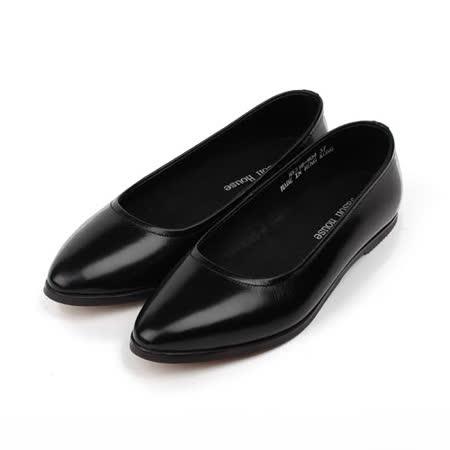 (女) Jason House 真皮淺口素面淑女鞋 黑 女鞋 鞋全家福