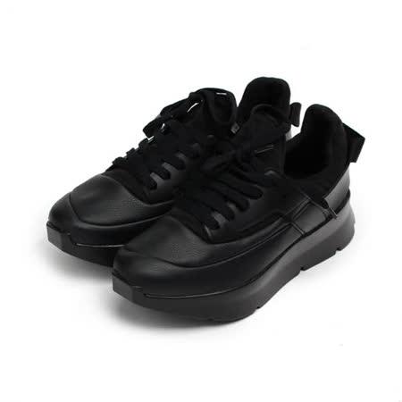 (女) ISSA 韓版厚底休閒鞋 黑 女鞋 鞋全家福