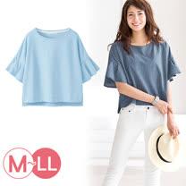 日本ANNA LUNA 預購-寬袖條紋圓領上衣(共二色/M-3L)