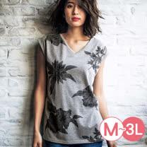 日本ANNA LUNA 預購-印花V領連肩袖T恤(共五色/M-3L)