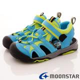 日本Carrot機能童鞋-透氣休閒涼鞋款-CNC4221水藍-(15cm-19cm)