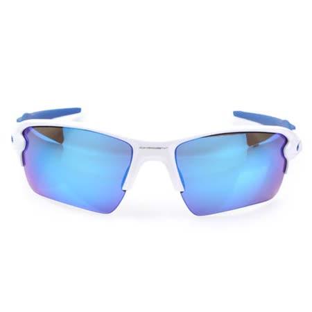 OAKLEY FLAK 2.0 XL-太陽眼鏡 慢跑 登山 抗UV 白藍 F