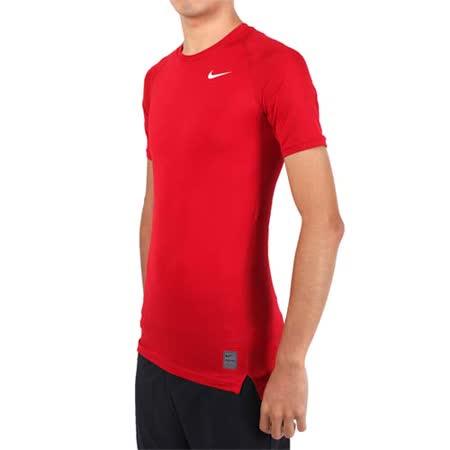 (男) NIKE PRO 短袖T恤-路跑 慢跑 健身 重訓 短袖緊身衣 紅白