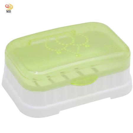 月陽大號透明掀蓋式肥皂盒減損皂量肥皂盤超值3入(W986)