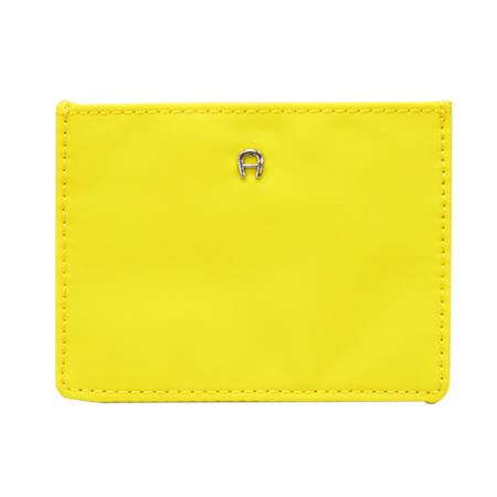 AIGNER 素色尼龍4卡卡套-黃