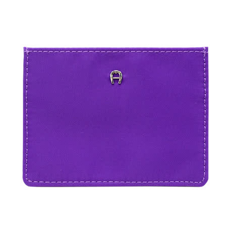 AIGNER 素色尼龍4卡卡套-亮紫