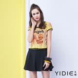 【YIDIE衣蝶】兩件式鑽飾高跟鞋洋裝