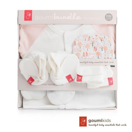 美國 GOUMIKIDS 有機棉新生兒彌月禮盒 (魔法森林_橘色)