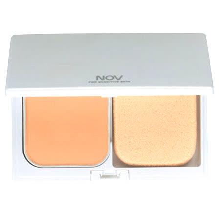 【NOV 娜芙】礦質兩用粉餅芯(附粉撲)(亮膚色) 搭兩用粉餅盒賣場