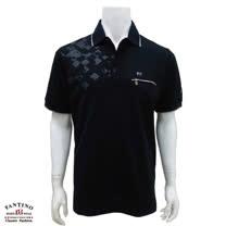 【FANTINO】男裝 冰涼紗添加POLO衫(黑) 231302