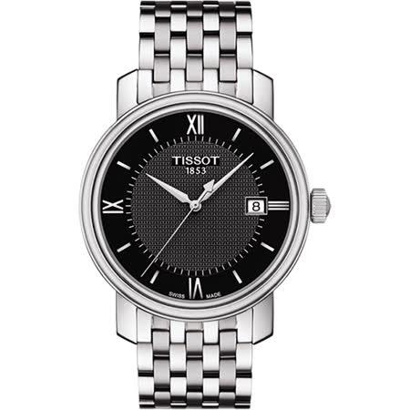 TISSOT Bridgeport 寶環系列經典石英腕錶-黑/40mm T0974101105800