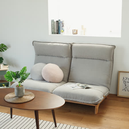 Peachy life 日式機能無段式椅背雙人沙發/和室椅/躺椅/坐墊(三色可選)