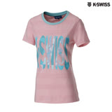 K-Swiss KS Print Graphic Tee印花短袖T恤-女-粉紅