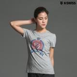 K-Swiss Shield Puff Print T印花短袖T恤-女-灰