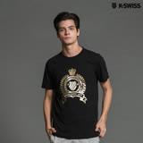 K-Swiss Shield Puff Print T印花短袖T恤-男-黑