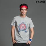 K-Swiss Shield Puff Print T印花短袖T恤-男-灰