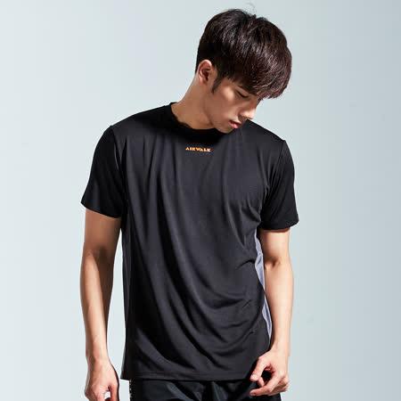 【AIRWALK】個性LOGO線條設計T恤-男-黑色
