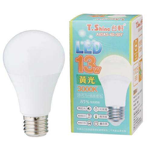 T.SHINE LED燈泡~黃光^(13W^)