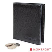 【MONTAGUT夢特嬌】精品頭層牛皮短夾-8卡1夾簡單款(653)