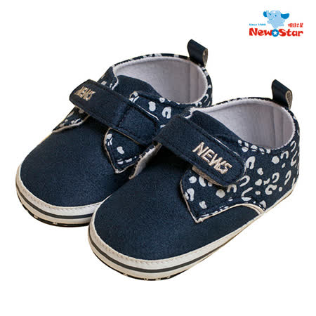 Newstar-時尚豹紋人氣 幼兒學步鞋 深藍