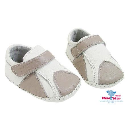 Newstar-氣質優雅童鞋-學步鞋-(真皮)-淺灰