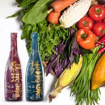永齡農場 永齡有機好酵益-紅球薑+諾麗果綜合蔬果發酵液600ml (各一)