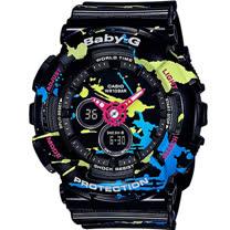 BABY-G 街頭塗鴉藝術運動錶 BA-120SPL-1A 黑