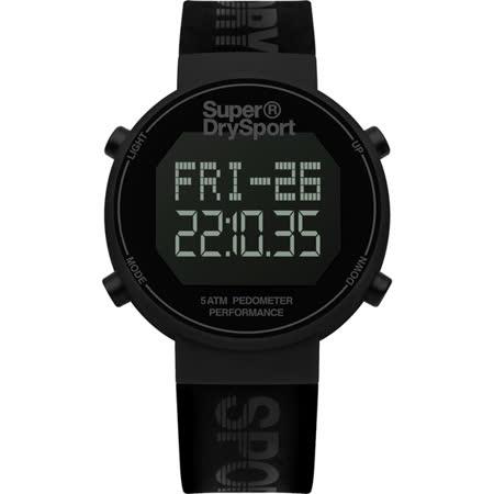 Superdry極度乾燥 街巷行頭運動腕錶-SYG203BB