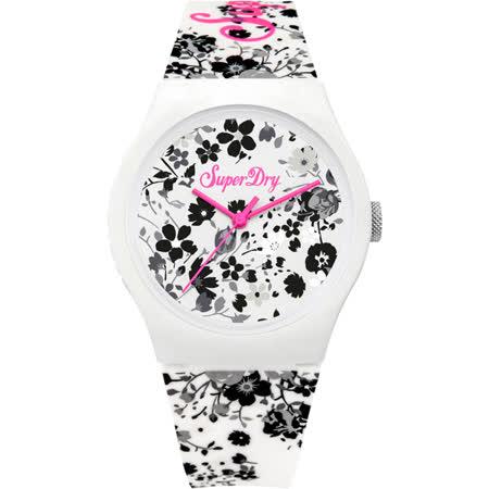 Superdry極度乾燥 阿羅哈之旅運動腕錶-SYL177WB