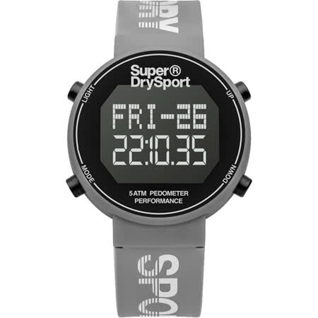 Superdry極度乾燥 街巷行頭運動腕錶-SYL203E
