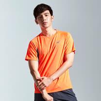 【AIRWALK】雙色排汗圓領T恤-男-橘(三色)