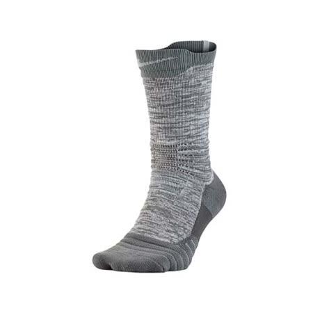 (男) NIKE M NK ELT VERSA CREW 高筒籃球襪-長襪 襪子 一雙入 麻花灰 L